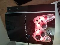 Sony play station 120gb ps3 1 controller and games and wifi adaptor