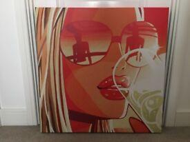 Hed Kandi Large Printed Canvas, 70 x 70cm
