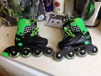 Zinc Adjustable kids inline skate size 13-3