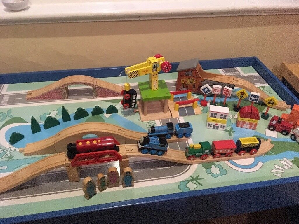 Wooden Trainset With Table Trains And Scenery In Newcastle Tyne And Wear Gumtree
