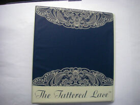Huge Job Lot of Tattered Lace Craft Magazines in Two Folders