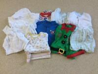Sleepsuits and vests bundle, age 9-12 months