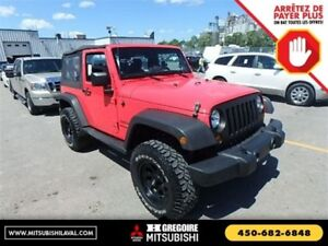 2013 Jeep Wrangler Sport 4X4 Auto 2-Toits Cruise Hitch Mags-Spec
