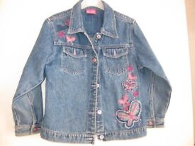 BARBIE DENIM JACKET for age 6-7 GREAT CONDITION & BARGAIN PRICE - REDUCED TODAY TO ONLY £3!