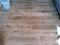Reclaimed Solid Oak Flooring, Natural colour, 150mm by 18mm planks, 25m2