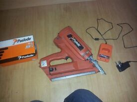 Paslode 350 first fix nail gun and some nails