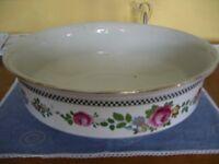 Large Vintage Pottery Pot Bowl Garden Wash