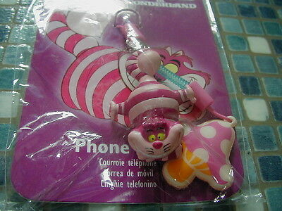 DISNEY STORE CHESHIRE CAT ALICE MUSHROOM  PHONE ATTACHABLE NEW VERY RARE