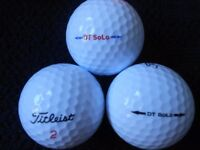 Titleist DT Solo Golf Balls x 50 Pearl Condition