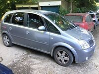 Vauxhall Meriva Design 16V 1796cc Petrol 5 speed manual 5 door hatchback 53 Plate 20/12/2003 Grey