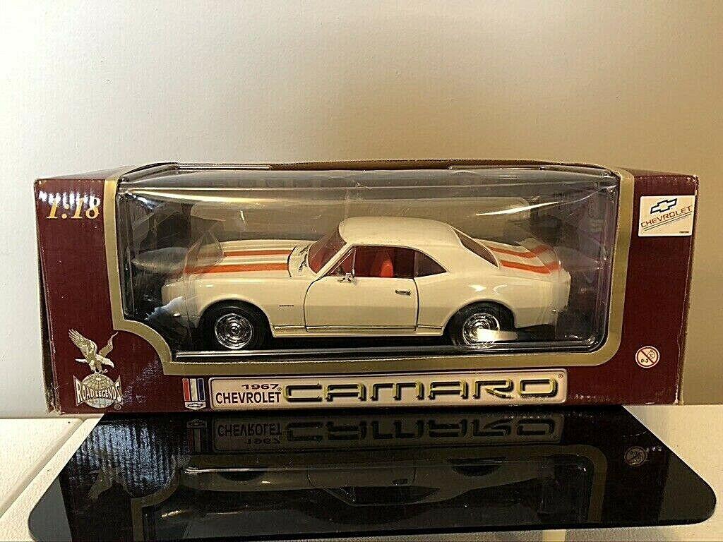 Road Legends 1:18 Scale 1967 White Chevrolet Camaro Z28 Diecast . 6526