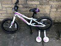 "Girls Saracen Bella 16"" bike."