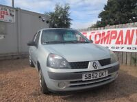 RENAULT CLIO 2002 52 1.2 LTR PETROL 77000 MILES 1 YEAR MOT FULL SERVICE HISTORY VERY CLEAN!!!