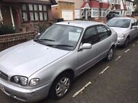 Toyota Corolla 2001 MOT 5 door need attention Spares or repairs