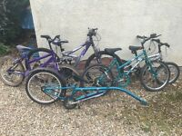 Bike Bundle - 5 kids Bikes (including Tagbike). Selling all as a bundle. Make me an offer