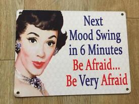 Novelty wall plaque
