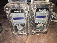 Two makita dab radios spares and repairs
