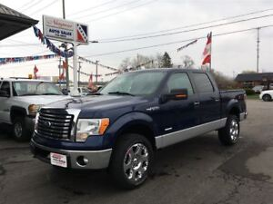 2012 Ford F-150 XTR Crew, 4X4, Short Box, 3.5L EcoBoost!