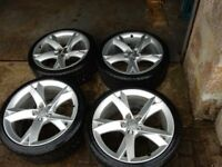 "4 x Audi A5 19"" Alloys c/w 1/2 worn Winter Tyres"