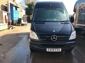 Mercedes sprinter 313 lwb in black, air conditioning, service print out, 10 months mot,