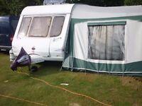 swift 6 berth caravan fixed bunks, awning & Motor Mover