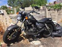 Motorbike Keeway Superlight 125 Cruiser Matt Black less than 1 year old