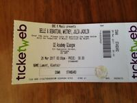 2x BELLE & SEBASTIAN, WHITNEY, JULIA JACKLIN TICKETS, 6 Music Festival, 26/03/17