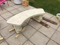 Concrete Lion Head Benches