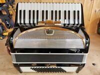 Settimio Soprani, 72 Bass, Octave Tuned (LM), Piano Accordion. Lessons Available.