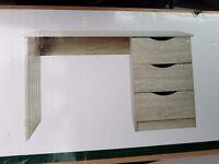 Jackson 3 Drawer Desk - Brand New, Unused & Unopened - Natural Wood (Dunelm) was £70