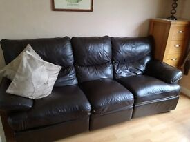 3 seater Leather Reclining Sofa