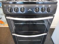 NEWWORLD DOUBLE CAVITY ALL GAS COOKER**BLACK**