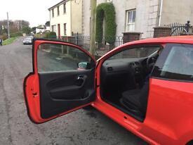 Volkswagen polo red 3 door 2014