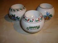 Set of 3 Christmas Tea Light Holders