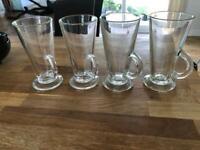 4 Tall Latte glasses