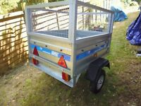 Small trailer with electrics.