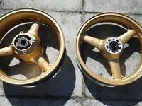 Kawasaki ZX6 Ninja Front and Rear Wheel . straight no dents