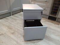 Grey Metal Office Storage 3 Draws Pedestal
