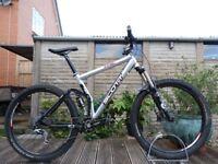 "Scott Genius 40 Full Suspension Mountain XC Bike 19"" Large Frame - Full Lockout - 140mm"