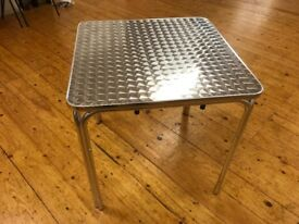 3ft x 3ft Aluminium Resterant Tables, Inside or Outside, 10 Available