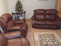 THREE PIECE LEATHER SUITE FOR SALE