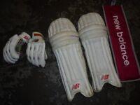 New Balance cricket gear, knee pads & gloves etc..