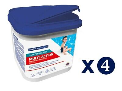 CLORO DE PISCINA MULTIACCION AstralPool (Multifuncion) 5kg, TABLETAS 250g PACK 4