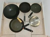 pans, wok, cake tin all for £ 2
