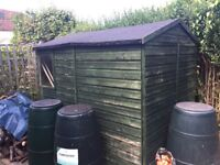 FREE SHED - 8ft x 5ft11 - Collection Only