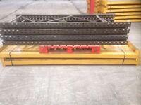 4 bay run of link pallet racking 2.4m high ( storage , shelving )