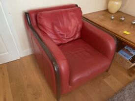 Genuine leather suite for sale