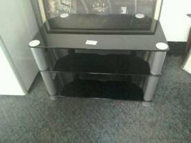 Black glass TV unit #33928 £30 BB