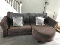 4 Seater DFS Brown Sofa