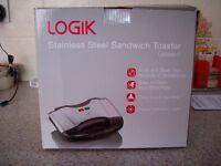 LOGIK sandwich toaster (unused)